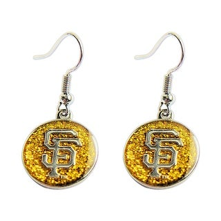 SAN Francisco Giants Glitter Sparkle Dangle Logo Earring Set Charm Gift NFL