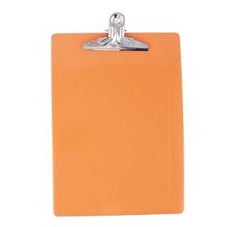 Unique Bargains Office School A4 Paper File Note Holder Clip Clamp Board Clipboard Orangered