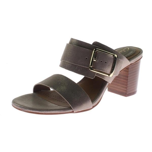 Clarks Womens Ralene Rose Dress Sandals Leather Shimmer