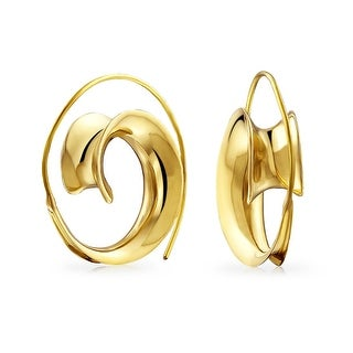 Gold Plated Spiral Indian Style Gypsy Earrings