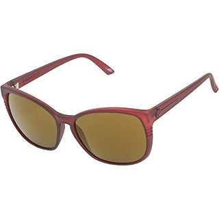 Electric Sunglass Rosette Square Plasma Bronze Plastic Brown Lens ES087419570 - Medium