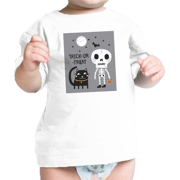 Skeleton Black Cat Infant Graphic Tee Shirt Baby Halloween Costume