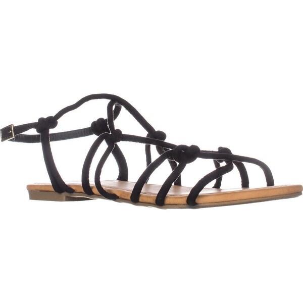 Report Gail Flat Knot Sandals, Black