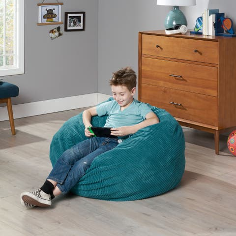 Kenli Modern Corduroy Polyester Bean Bag Chair by Christopher Knight Home