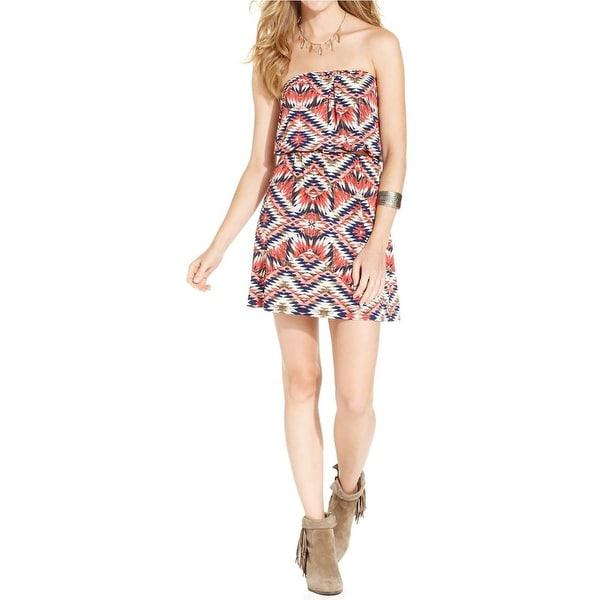 Trixxi Womens Juniors Casual Dress Matte Jersey Printed