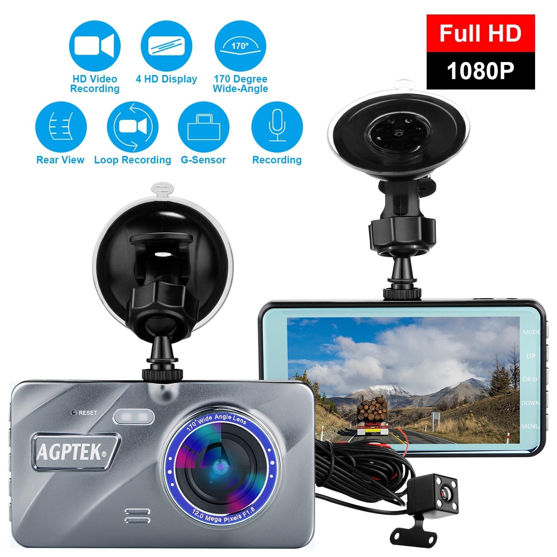 "Dual Lens Camera HD Car DVR Dash Cam Video Recorder G-Sensor Night Vision 4/"""
