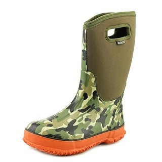 Bogs Camo Classics Youth Round Toe Synthetic Green Rain Boot