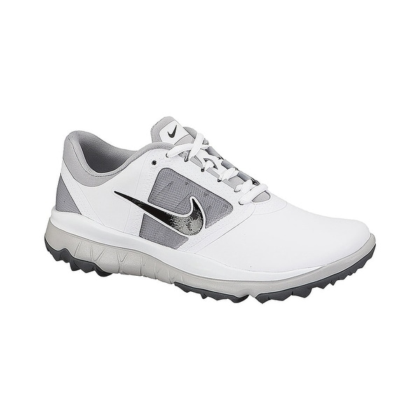 ab712d4df65 Shop Nike Women s FI Impact White Grey Black Golf Shoes  611509-103 612661-103 - Free Shipping Today - Overstock - 19670747