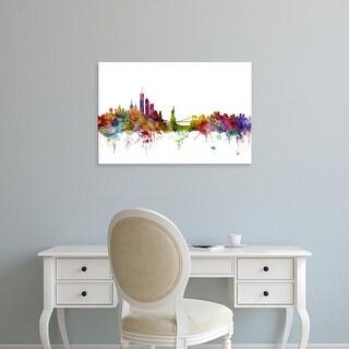 Easy Art Prints Michael Tompsett's 'New York Skyline' Premium Canvas Art