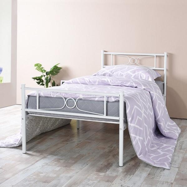 Shop Easy To Assemble Metal Bed Frame Platform Mattress