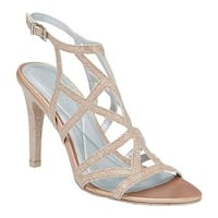 Kenneth Cole Reaction Women's Smashing Strappy Sandal Rose Gold Glitter