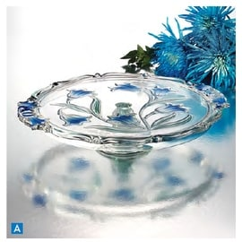 Studio Silversmiths Footed Platter Blue Danube Crystal