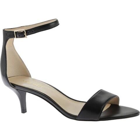 Nine West Women's Leisa Ankle Strap Sandal Black Leather