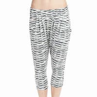 Nike Gray Womens Size Medium M Printed Harem Cropped Stretch Pants