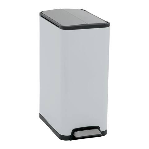 Household Essentials 30L Yueya Step Trash Can Bin, Gloss White