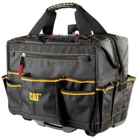 Cat 18 in. Pro Rolling Tool Bag 18 Pockets Heavy Duty 1680D Polyester - 240050