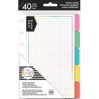 Happy Planner Sticky Notes 40/Pkg-Brights, 5 Designs/8 Each