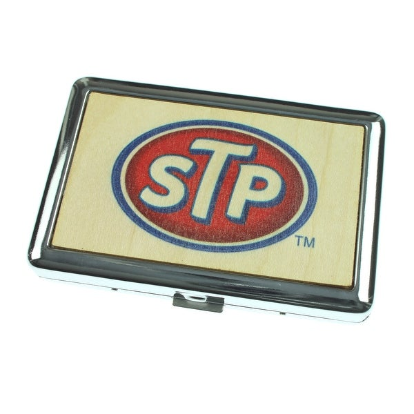 STP Logo - Wood Natural - Business Card Holder - One Size Fits most