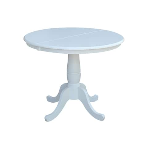 The Gray Barn Jalisco 36-inch Round Top Pedestal Table with 12-inch Leaf