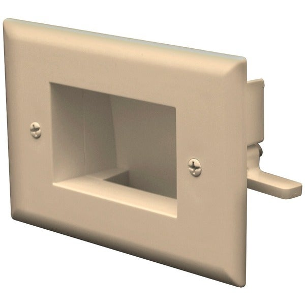 Datacomm Electronics 45-0008-La Easy-Mount Recessed Low-Voltage Cable Plate (Light Almond)