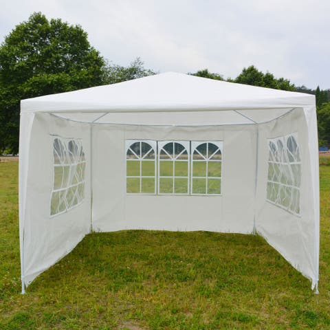 Outdoor 3 x 3m Three Sides Waterproof Tent with Spiral Tubes White