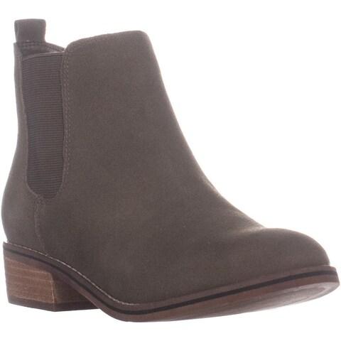 Aqua Lori Waterproof Ankle Boots, Olive Suede