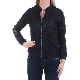 Womens Black Bomber Jacket Size 2XS