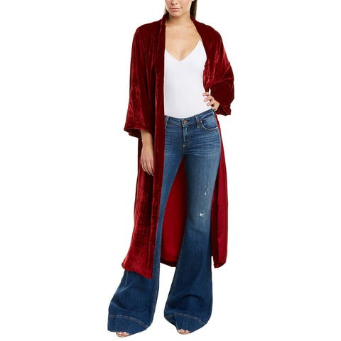 Alice + Olivia Lynn Velvet Silk-Blend Kimono