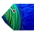 Statements2000 Large Blue / Green Tropical Fish Metal Wall Art Accent by Jon Allen - Big Blue Fish - Thumbnail 3