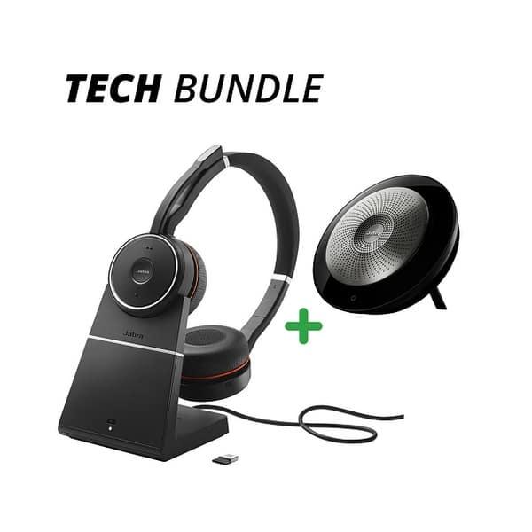 Shop Jabra Evolve 75 And Charging Stand W Speak 710 Tech Bundle Package Deal Overstock 17904242
