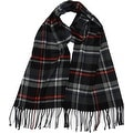 Winter or Fall Cold Weather Irish Plaid Long Cashmere Feel Scarf, Black Red - Thumbnail 0
