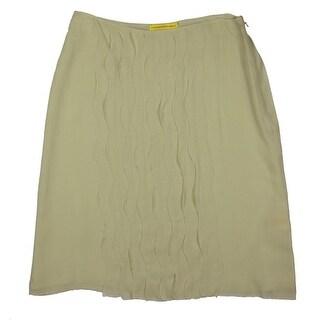Catherine Malandrino Womens Silk Knee-Length A-Line Skirt - 4