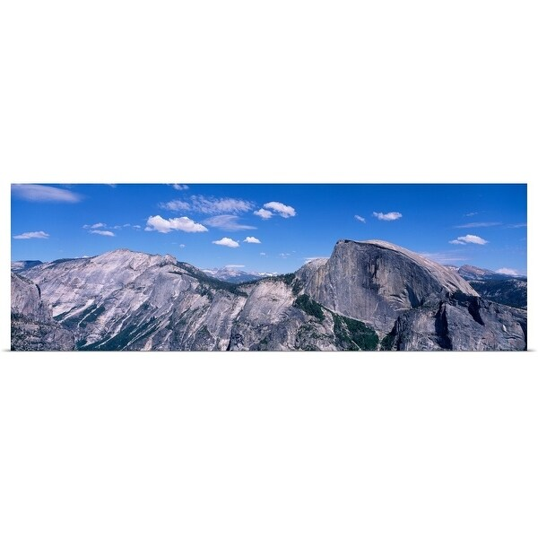 """""""View fr North Dome Half Dome Clouds Rest Yosemite National Park CA"""" Poster Print"""