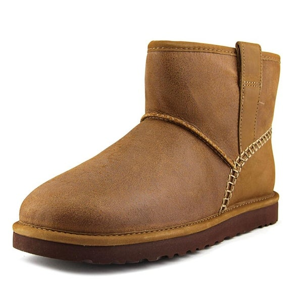 7d0ce605f3c Shop Ugg Australia Classic Mini Stitch Men Round Toe Leather Tan ...