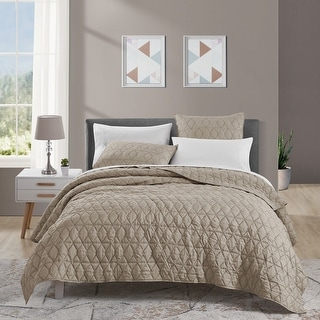 Link to Beaute Living 3 Piece Diamond Pattern Quilt Set Similar Items in Quilts & Coverlets