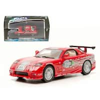 Dom\'s 1993 Mazda RX-7 Red The Fast and The Furious Movie (2001) 1/43 Diecast Car Model by Greenlight