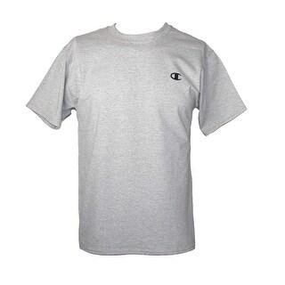 Champion Men's Big & Tall Cotton Short Sleeve Jersey Shirt - oxford grey - 4XL