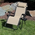 Sunnydaze Oversized Zero Gravity Lounge Chair with Pillow and Cup Holder - Thumbnail 98