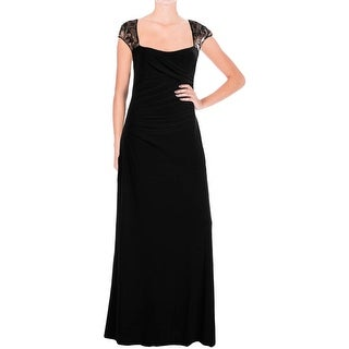 Lauren Ralph Lauren Womens Emelia Evening Dress Matte Jersey Ruched