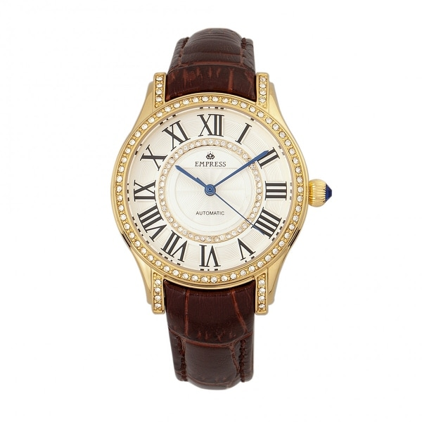 Empress Xenia Women's Automatic Watch, Genuine Leather Band, Sapphire-Coated Crystal