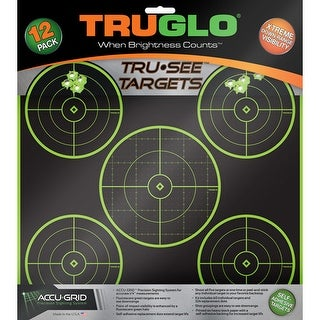 Truglo \g11a12 truglo tru-see reactive target 5 bull 12-pack