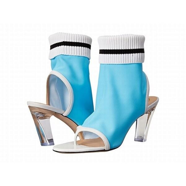 Viktor & Rolf Blue Women Shoes Size 8M Open Toe Lycra Bootie