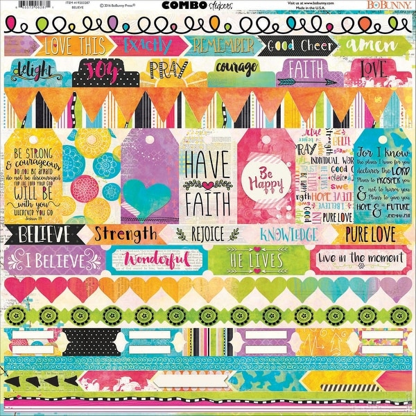 "Believe Combo Stickers 12""X12""-"
