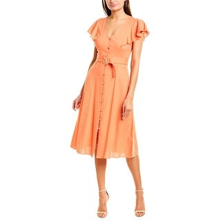 Link to Donna Morgan Linen-Blend Midi Dress Similar Items in Women's Plus-Size Clothing