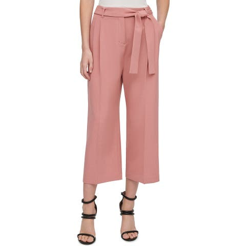 DKNY Womens Culotte Belted Pants 6 Blush