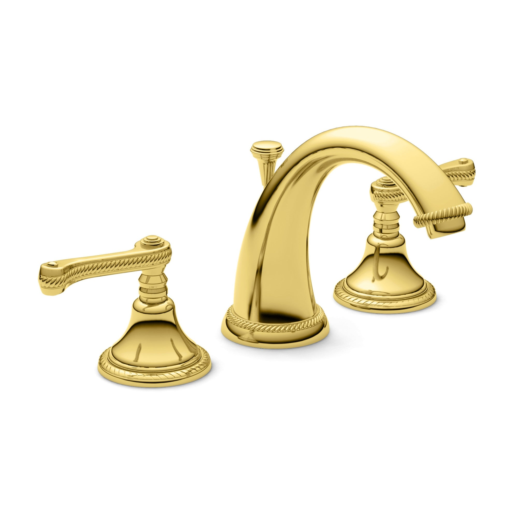 Newport Brass 1020  Amisa Double Handle Widespread Lavatory Faucet with Metal Lever Handles (French Gold (PVD))