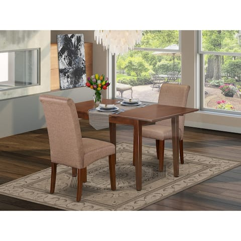 3Pc Rectangular Kitchen table with elegant parson chairs (Number of chair option)