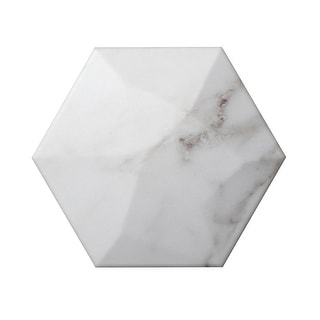 "Emser Tile W10CODH0607HX  Code - 5-7/8"" x 6-7/8"" Hexagon Floor and Wall Tile - Matte Stone Visual"