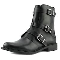 Vince Camuto Raegel Women  Round Toe Leather Black Ankle Boot