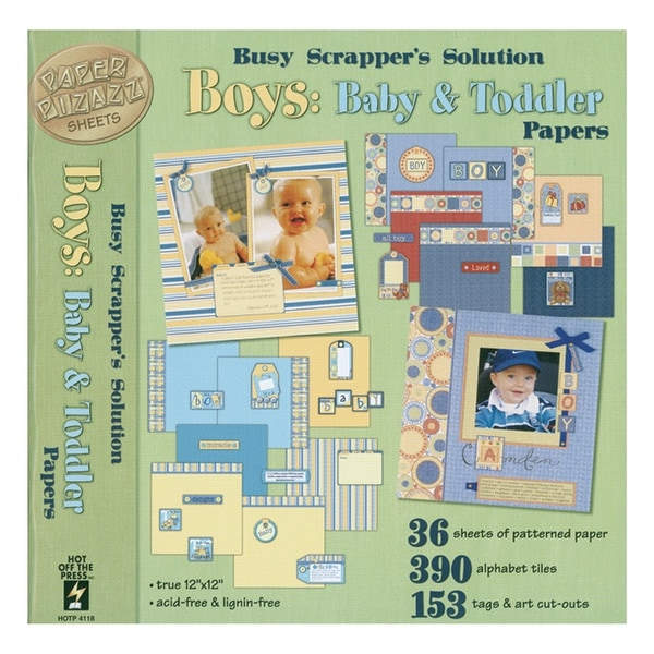 """Paper Pizazz Papers & Accents 12""""X12""""-Boys: Baby & Toddler"""
